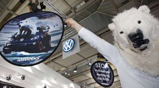 Action at Brussels Motor Show
