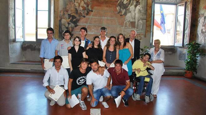 Gli studenti premiati nel 2012