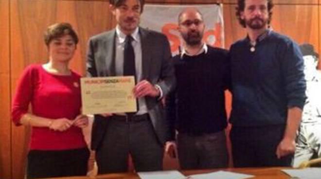 Andrea Santoro - Firma protocollo antimafie