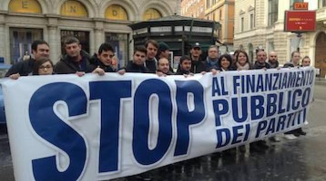 stop finanziamento partiti