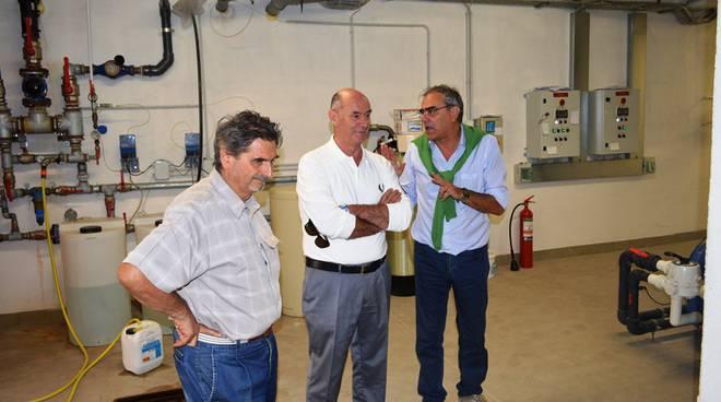 Il sindaco Mazzola con i tecnici comunali