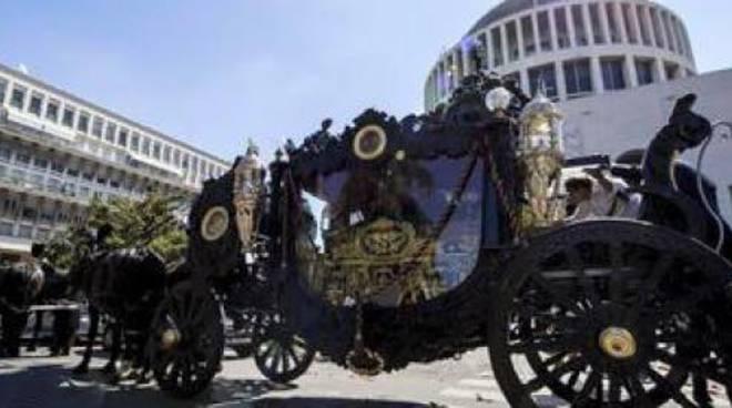 Funerale Vittorio Casamonica - Carrozza