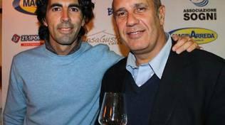 FEDERICO MOCCIA, a destra, con il nostro Fabrizio Pacifici
