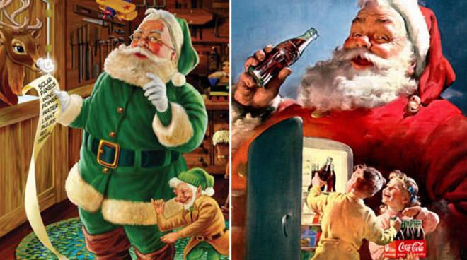 Babbo Natale Babbo Natale.Babbo Natale E Il Vestito Rosso Ma In Origine Era Verde Ecco Il