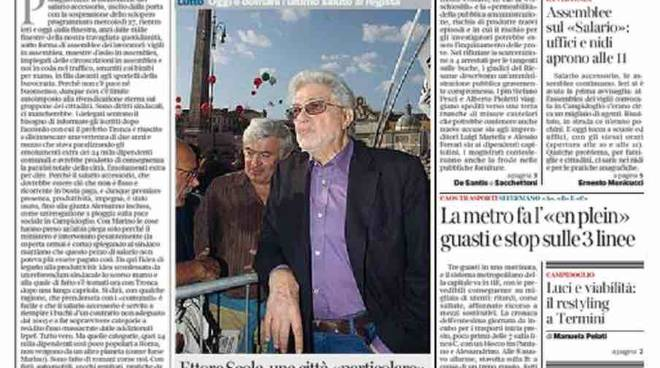 Corriere della Sera Roma prima pagina - 21 gennaio 2016