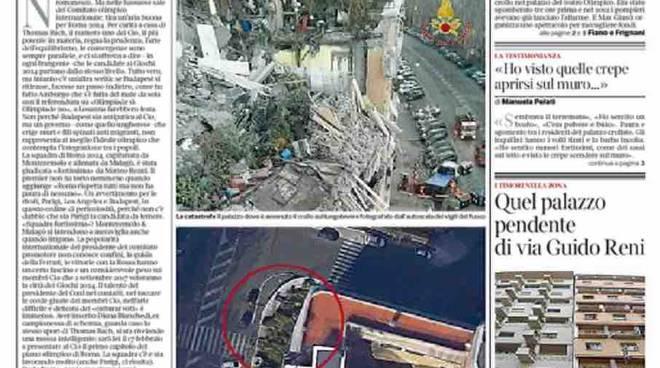 Corriere della Sera Roma prima pagina – 21 gennaio 2016