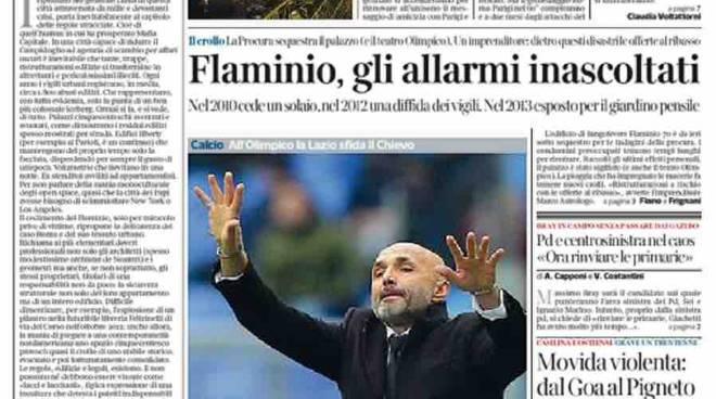 Corriere della Sera Roma prima pagina – 24 gennaio 2016