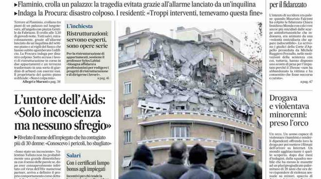 Il Messaggero prima pagina cronaca di Roma – 23 gennaio 2016