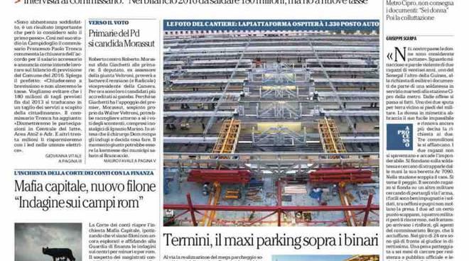 Repubblica Roma prima pagina - 21 gennaio 2016