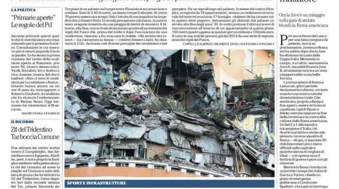 Repubblica Roma prima pagina – 23 gennaio 2016