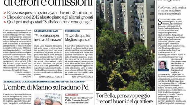 Repubblica Roma prima pagina – 24 gennaio 2016
