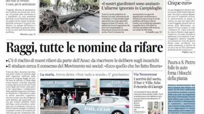 Prime pagine il messaggero roma cronaca oggi romadailynews for Cronaca galatina oggi