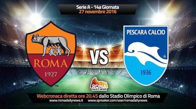 Roma-Pescara alle 20,35 in diretta su RDN Radio