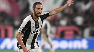 Higuain ha segnato il gol decisivo in Juventus-Lazio.