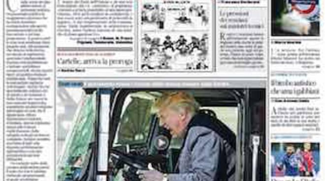 Corriere della Sera titoli della prima pagina 25 marzo 2017