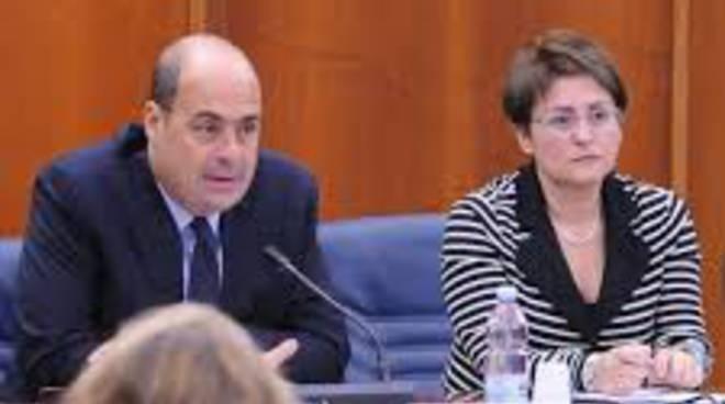 Il Presidente della Regione Lazio Nicola Zingaretti e Rita Visini