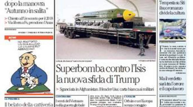 La Repubblica prima pagina di oggi 14 aprile 2017