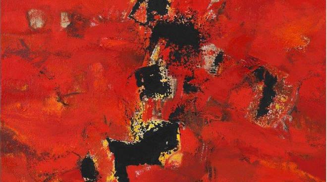Maria Pacheco Cibils - Emozioni Rosse 1 - 2017 olio su tela