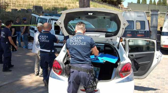 Cronaca di Roma - Colosseo operazione Polizia Locale