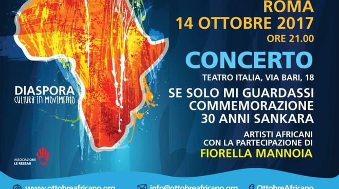 Fiorella Mannoia Ottobre africano 2017