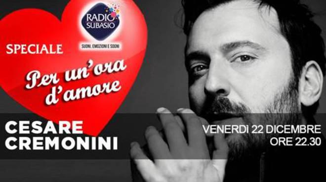 Cesare Cremonini su Radio Subasio