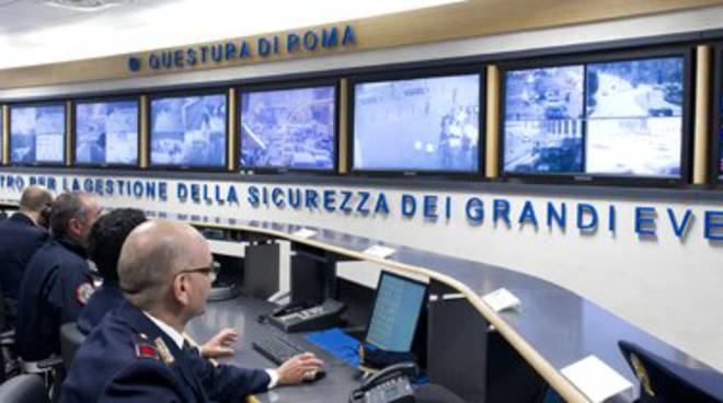 Sala Operativa Questura di Roma