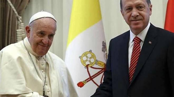 Roma- Incontro Papa Francesco e Erdogan