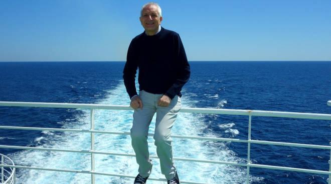 Roberto Ippolito in nave nel Mediterraneo