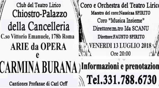 Concerto Florilegio di Arie da Opere e Carmina Burana di Carl Orff