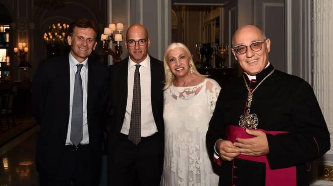 Massimiliano Raponi, Sara Iannone, Monsignor Luigi Casolini.