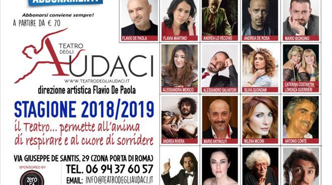 Locandina conferenza stampa 'Teatro degli Audaci'
