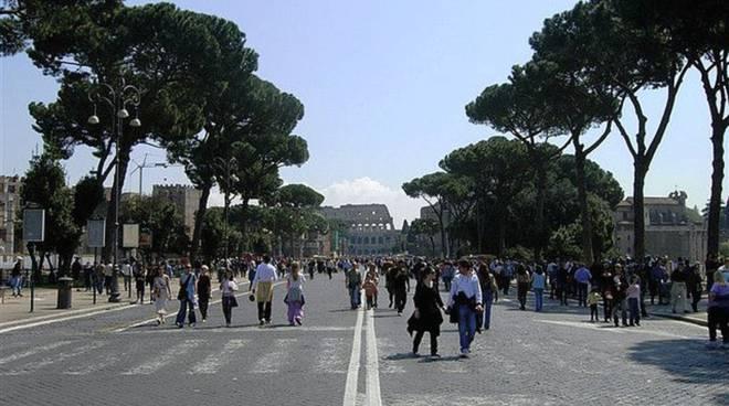 Roma - Strade chiuse al traffico