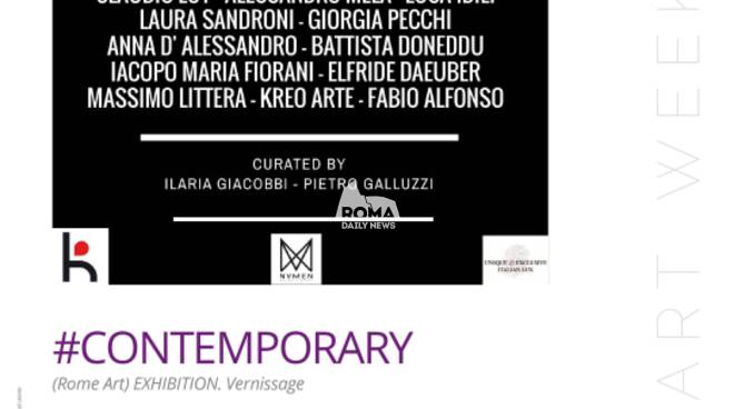 #CONTEMPORARY (Rome Art) Exhibition. Inaugura al Rome Art Week