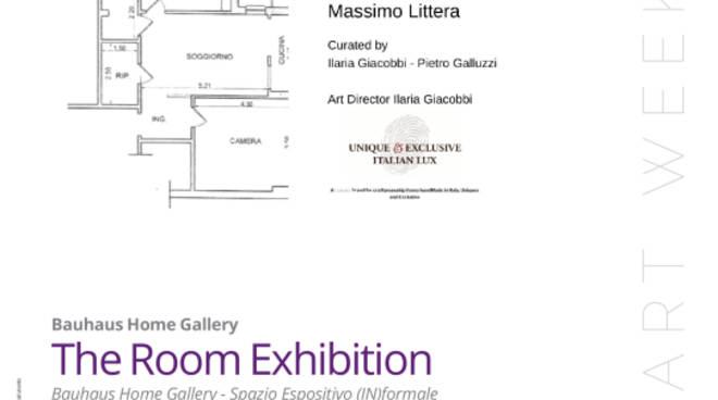 "Bauhaus Home Gallery al Rome Art Week con la collettiva  \""The Room Exhibition\"""