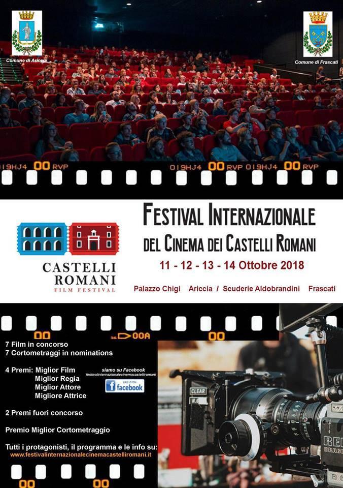 Locandina Festival Internazionale del Cinema dei Castelli Romani