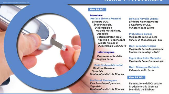 Giornata Mondiale Diabete 2018