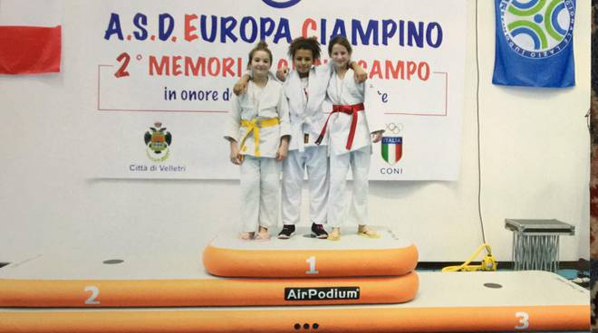 Judo Frascati - Amy Simbi sul podio