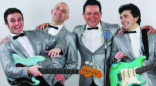 Bevo Solo Rock'n Roll al Cotton Club: Four Vegas in concerto