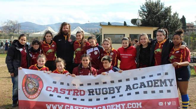 Rugby Frascati Union femminile con Castrogiovanni
