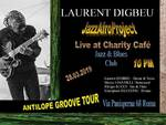 Laurent Digbeu Jazz Afro Project in concerto al Charity Café