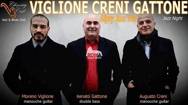 Viglione, Creni, Gattone Gipsy Jazz Trio in concerto al Charity Café