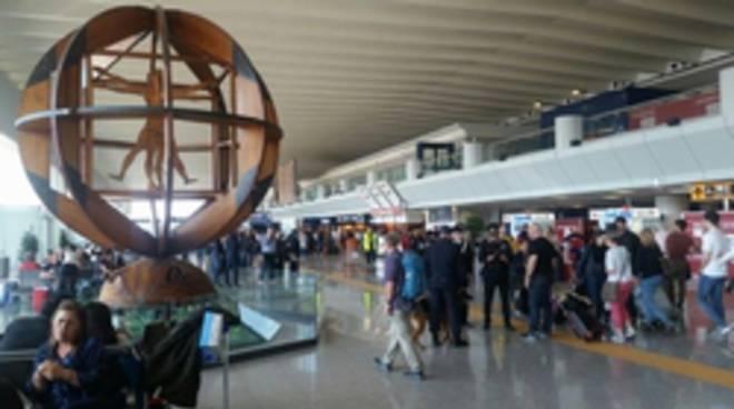 controlli aeroporto Fiumicino