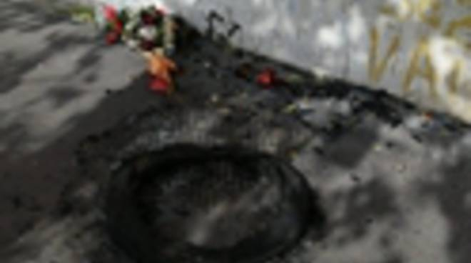 Corona fiori bruciata