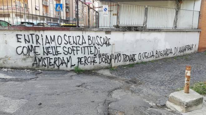scritta Anna Frank 26/09/2019