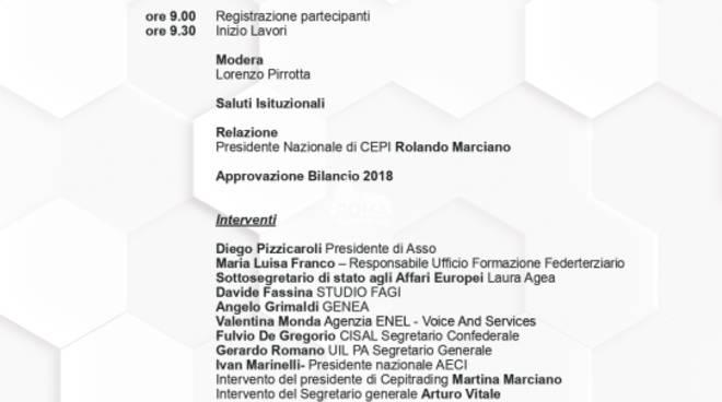 VI Assemblea Nazionale CEPI a Roma il 26 ottobre: presentato accordo per l\'energia
