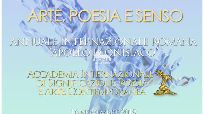 Arte, Poesia e Senso. Annuale internazionale romana Apollo dionisiaco 2019.
