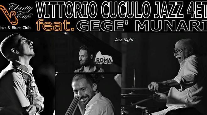 Vittorio Cuculo Jazz Quartet feat. Gegé Munari in concerto al Charity Café