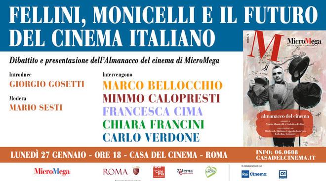 Alla Casa del Cinema 'Fellini, Monicelli e il futuro del cinema italiano