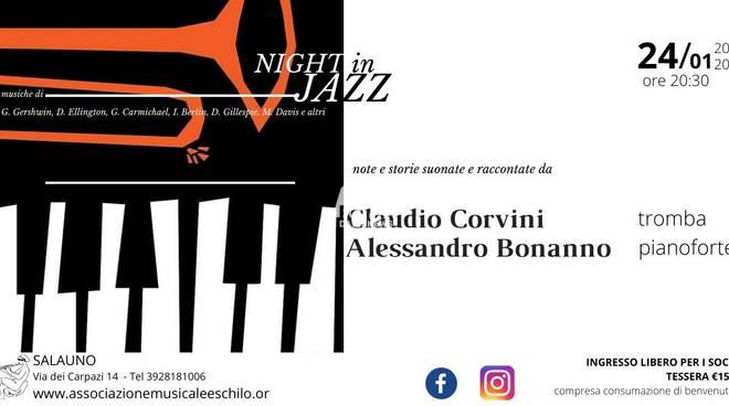 NIGHT IN JAZZ note e storie suonate e raccontate , Alessandro Bonanno, Claudio Corvini