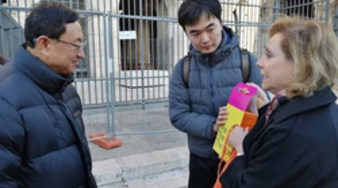 ministro cinese al colosseo